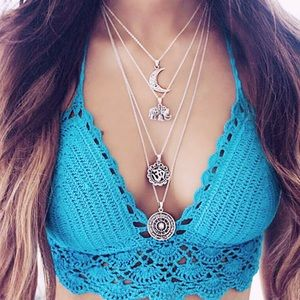 NWT Boho Multi Layer Necklace